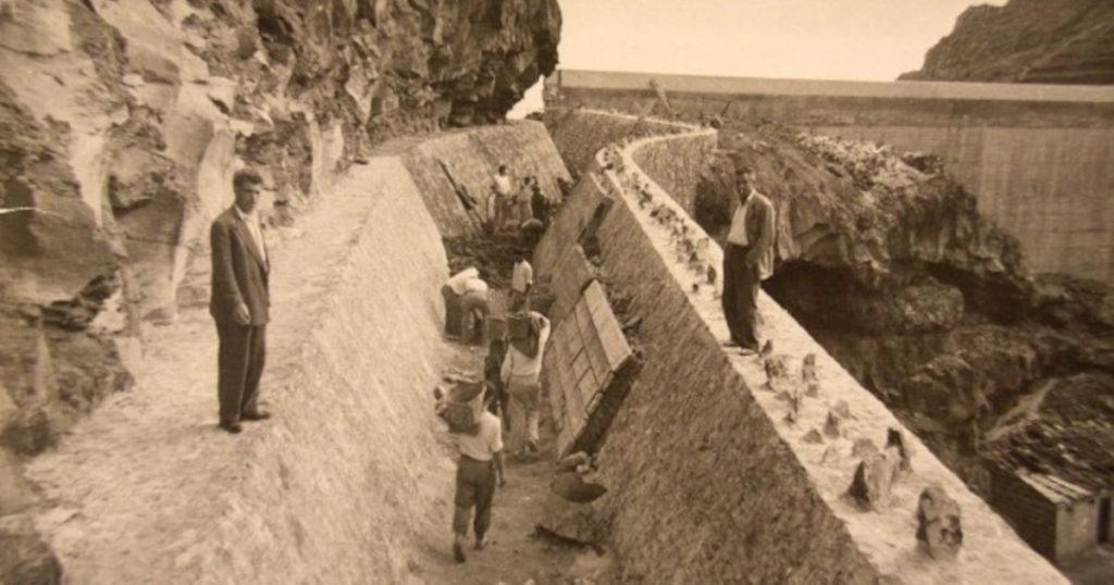 Construction of a dam on the island of La Gomera